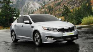 The new Kia Optima Hybrid saloon