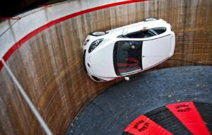 The Mazda2 takes on the Demon Drome Wall of Death