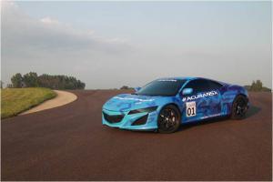 Honda NSX prototype seen on track