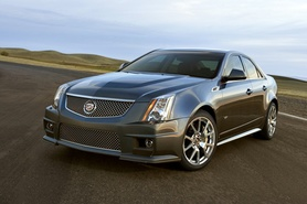 Cadillac CTS-V accelerates from 0-60 mph in 3.9 seconds