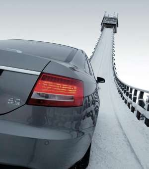 Audi ski jump commercial recreated