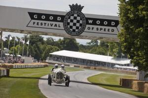 George Wingard drives the Mercedes GP at the Festival of Speed 2014