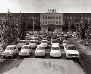 60s: SEAT range. Zona franca factory in 1961