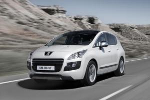 The Peugeot 3008 HYbrid 4 diesel electric hybrid