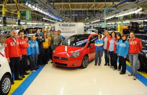 One millionth Fiat Grande Punto rolls off production line