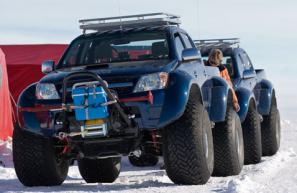 Toyota Hilux makes it to the South Pole
