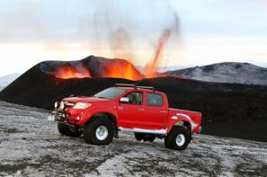 Toyota Hilux conquers Iceland's Eyjafallajökull volcano hours before eruption
