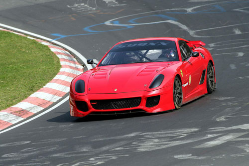 The Ferrari 599XX sets a new record on the Nurburgring