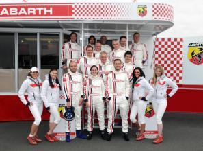 Rick Parfitt Jnr wins Abarth 500 Celebrity Challenge at Silverstone Classic
