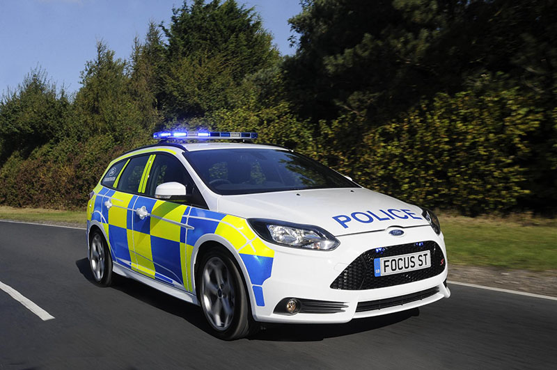 Ford Focus ST police patrol vehicle