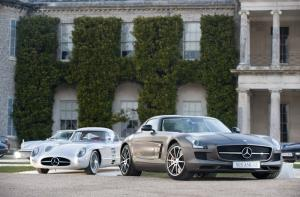Mercedes SLS AMG GT and 300 SLR meet at Goodwood Festival of Speed Media Day