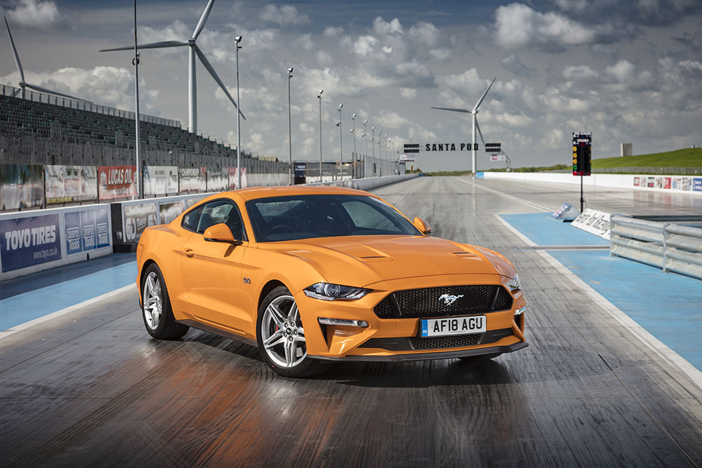 Ford Mustang Fastback in Orange Fury