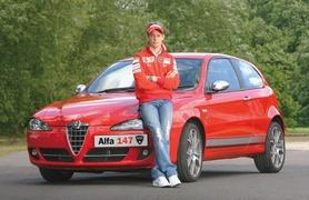 Alfa Romeo celebrates MotoGP champion Casey Stone with new Alfa 147 Ducati Corse