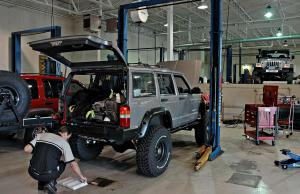 The Jeeps are serviced at Burger Chrysler, Terre Haute, IN