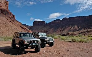 Two Jeeps in Moab, Utah