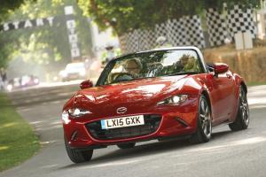 Lord March drives the new Mazda MX-5