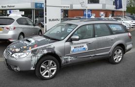 Subaru dealer's see-through Boxer Diesel Legacy