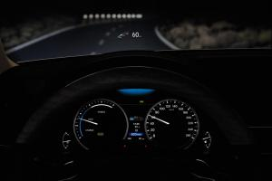 Lexus GS 300h colour heads-up display
