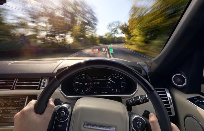Land Rover All-Terrain Progress Control Head-Up Display