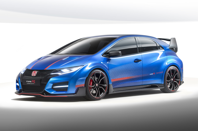 new honda civic type r concept images released news. Black Bedroom Furniture Sets. Home Design Ideas