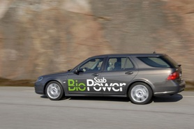 Saab 9-5 BioPower smashes targets