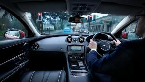 Jaguar Land Rover Urban Windscreen 'Follow Me' Ghost Car