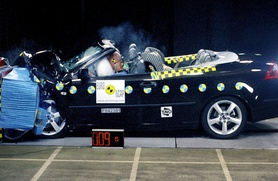 Saab 9-3 convertible first soft-top to take five-star safety rating