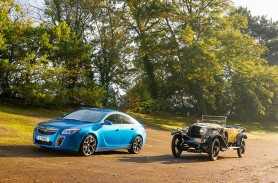 2012 Vauxhall Insignia VXR SuperSport and 1926 Vauxhall 30-98