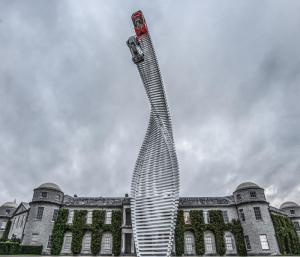 Mazda sculpture at 2015 Goodwood Festival of Speed