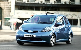 Toyota Aygo Blue now with Slate Blue metallic paint